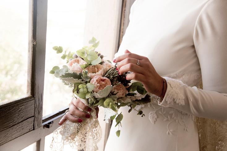 Flores en la boda Guia de la novia Ramo B-Impassioned Foto Click10 Calista One